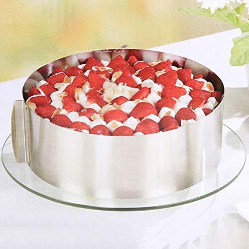 Baking & Pastry Spatulas - Arrival Retractable Stainless Steel Circle Mousse Ring Baking Set Cake Mould Mold Size Adjustable - Spatulas Circle Gift Teapot Tart Ring Bake Bakeware Goldfi - Tart Pastry Ring