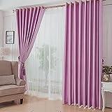 ZHAS Vorhang einseitig geprägte Isolierung Boden Schlafzimmer Blackout Eyelet Blackout für Wohnzimmer mit Zwei passenden Tie Backs 2 Panels