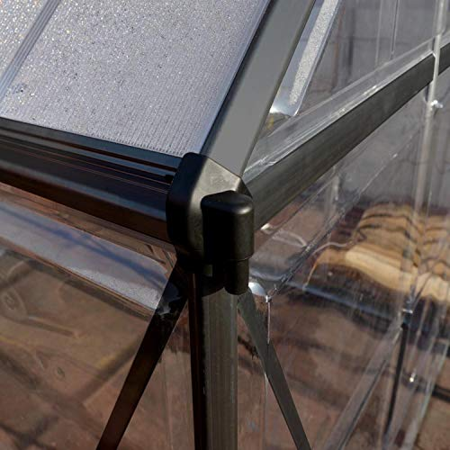 Palram Aluminium Gewächshaus Gartenhaus Hybrid - 8