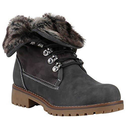 Stivali Paradiso Caldo Imbottito Da Donna Stivaletti Stivali Da Lavoro Faux Fur Shoes Flandell Grigio Arriate