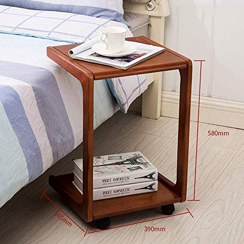 FENGFAN Tische Kiefer Holz Mobile Cart Laptop Bettwäsche Sofa Side Bedside 34.5 * 39 * 58CM (Farbe : C) -
