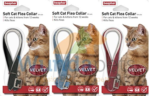 BEAPHAR-VELVET-CAT-KITTEN-FLEA-TREATMENT-COLLAR-WITH-BELL-3-PACK-UP-TO-1-YEARS-PROTECTION