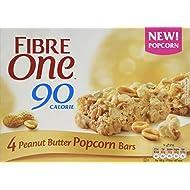 Fibre One 90 Calorie Peanut Butter Popcorn Bars 4x21g (Pack of 8)