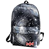 HCFKJ Schultasche, BGalaxy Pattern Unisex Travel Backpack Canvas Leisure Bags Mochila escolar (BK)