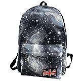 HCFKJ Schultasche, BGalaxy Pattern Unisex Travel Backpack Canvas Leisure Bags Mochila escolar (BK)