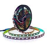 BTF-LIGHTING WS2812B 5M 60 LEDs/Pixels/m 300LEDs RGB Schwarz PCB Streifen mit 5050 SMD LEDs NichtWasserdicht IP30