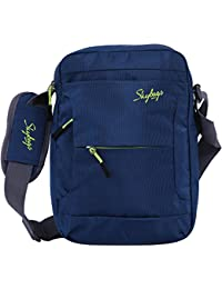 Skybags Polyester 22 cms Blue Messenger Bag (BAGEXCUBLU)