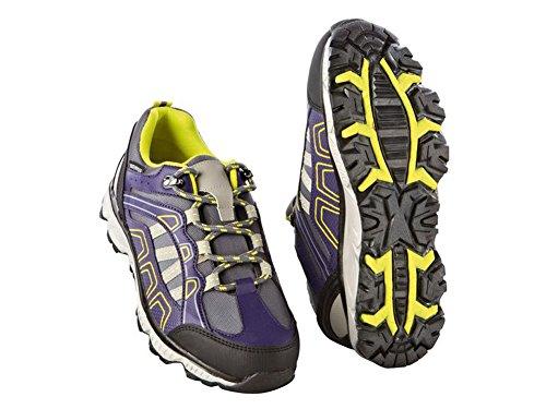 Crivit Damen Trekkingschuhe Wanderschuhe Trekking Schuhe Atmungsaktiv Wasserdicht (39, Violett-Gelb)