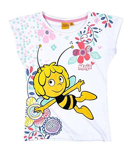 Biene Pullover (Die Biene Maja Kollektion 2017 T-Shirt 86 92 98 104 110 116 122 128 Shirt Maya Neu Weiß (92 - 98, Weiß))