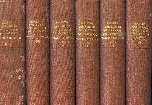 Bulletin des arrets de la cour de cassation, chambre criminelle, 48 volumes (1955-1990)