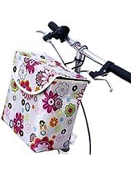 Cesta de la cesta de la bicicleta de la cesta de la lona colorida colorida portátil para montar