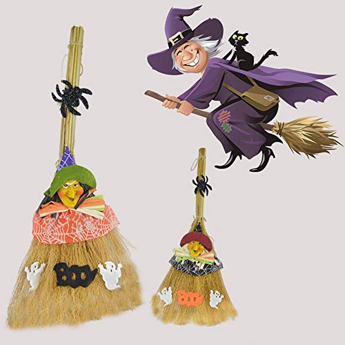 DYTJ-Broom Besen Schaufel Halloween Hexen Besen Kostüm Requisiten Maskerade Show Dress Up Wunder Besen Hexe Besen für Cosplay Party (2 Stile - Nasse Decke Kostüm