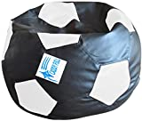 Caddyfull Xl Football Beanbag Without Beans (Black & White)