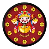 WANGZZZ Fortuna Wanduhr Geschäft Glück Feng Shui Fortune Uhren Shop Shop Mute Wandkarten Wohnzimmer Uhr