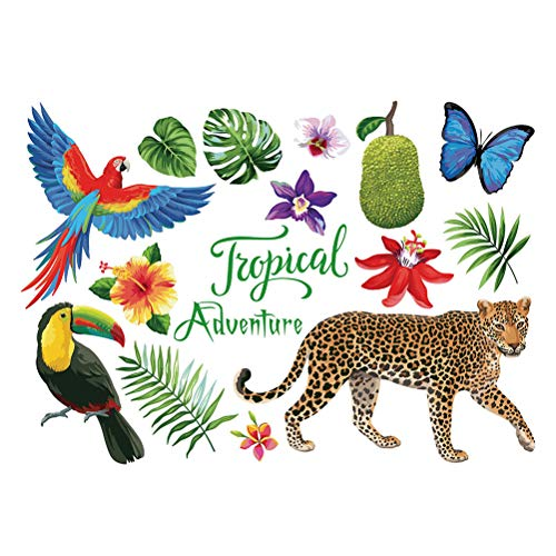 Vosarea Mural Art Creative Wallpaper Vinilos Decorativos Vinilos Decorativos Elefantes Tropicales Jungle...