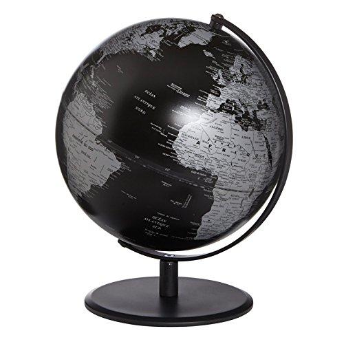 emform Tischglobus Pluto Matt Schwarz, Aluminium & Kunststoff, 250 x 300 mm