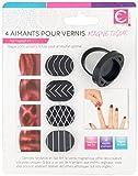 Nail Art Magnete für magnetischen Nagellack, mit Ring, 4 Stück