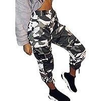 Gusspower Pantalones de Mujer Camo Cargo Pantalones de Camuflaje Casual al Aire Libre Jeans S-