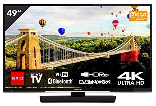 Hitachi 49HK6002 Téléviseur 49' (125 cm) 4K Smart TV Ultra HD, Bluetooth, WiFi, Triple Tuner, Noir