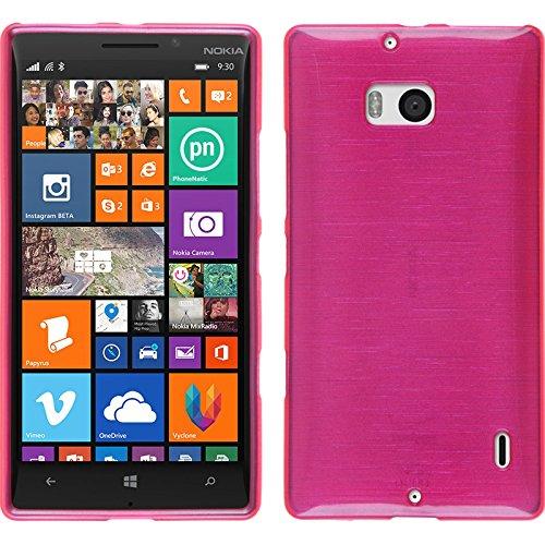 PhoneNatic Custodia per Nokia Lumia 930 Cover rosa caldo brushed Nokia Lumia 930 in silicone + pellicola protettiva