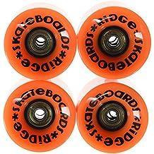 Ridge Cruiser - Ruedas de monopatín, color naranja, tamaño 59mm