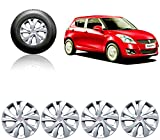#10: Auto Pearl - Premium Quality Car Full Silver Wheel Cover Caps 14