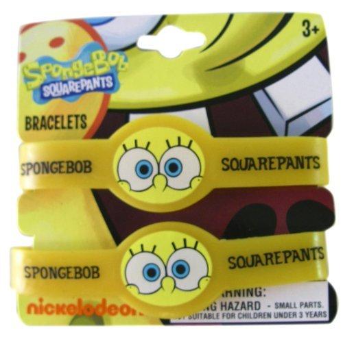 Nick Jr. Spongebob Squarepants 2pc Rubber Bracelet Set-Spongebob Squarepants Kids Bracelet Set