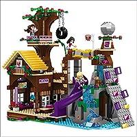 Yyz 739pcs Girl Series Adventure Camp árbol casa CompatibIe Bloques de construcción Juguete Kit DIY educativos