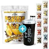 C.P. Sports Protein 100 - im 500g Beutel, + gratis Shaker Eiweiß-Pulver in 11 leckeren Geschmacksrichtungen 4-Komponenten Protein - Mehrkomponentenprotein (Schokolade)