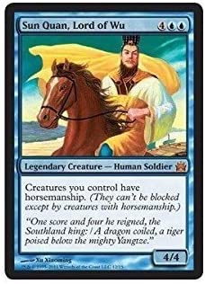 Magic: the Gathering - Sun Quan, Lord Lord Lord of Wu - From the Vault: Legends - Foil 1620e9