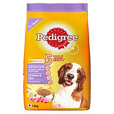 Pedigree Chicken & Rice, Dry Dog Food for Senior Dogs
