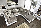 Großes Design Sofa LOFT XXL weiß grau Strukturstoff gebraucht kaufen  Wird an jeden Ort in Deutschland