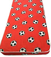 "eXtreme Comfort UK ltd Basic 4"" Firmer All Foam Kids Red Football Mattress Includes Euro Ikea Sizes"