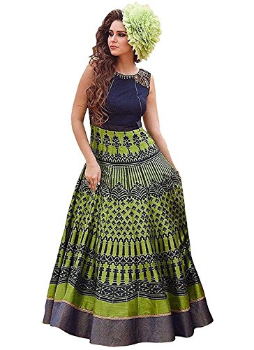 KURTI (In Women\'s Clothing Anarkali Heavy Cotton Silk Kurti by Way For Fashion (Women Kurti_11-4035_XL_green))