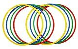 Sport Aro 60 cm. Set 8 Aros psicomotricidad en 4 Colores, Juventud Unisex, Red, Yellow, Blue, 2X Green, Ø