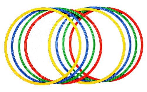 Sport Aro 60 cm. Set 8 Aros psicomotricidad en 4 Colores, Juventud...