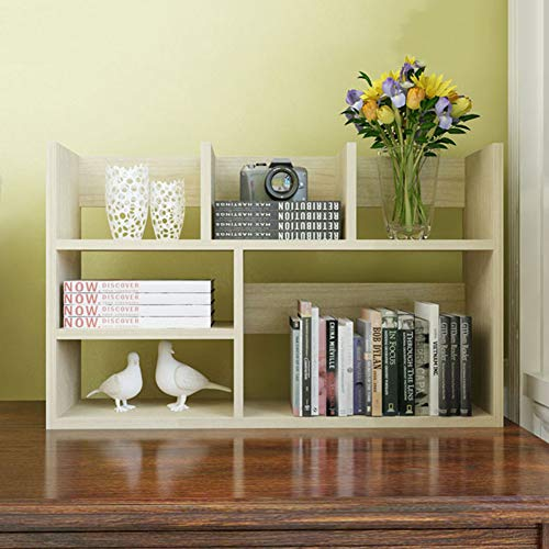 HM&DX Standregal bücherregal 6-würfel öffnen,Zeitgenössische Holz Bücherschrank Aufbewahrungsregal Display-Rack Für Haus büro-Ahorn 31x8x20 inch -