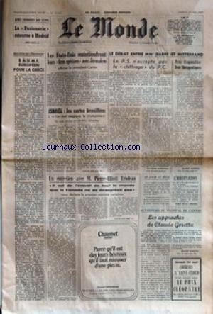 MONDE (LE) [No 10043] du 14/05/1977 - APRES QUARANTE D'EXIL - LA...