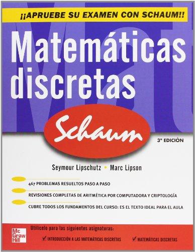 Matemáticas discretas (Schaum) por Lipschutz