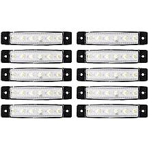 XCSOURCE 10pcs 6 LED SMD Front Side posteriore Marker Indicatori lampada di coda luce bianca per 12V / 24V Camion / Rimorchi / autocarri MA937