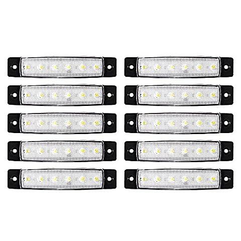 XCSOURCE 10pcs 6 SMD Phare LED Avant Latérale Arrière Clignotants Marqueurs Lampe Phare Feu Arrière Rouge pour 12V / 24V Camions / Remorques MA937