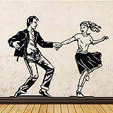 Wandaufkleber latin tänzerin für hauptdekoration wohnzimmer latin dance kurs tanzkunst wanddekoration 43 cm x 35 cm