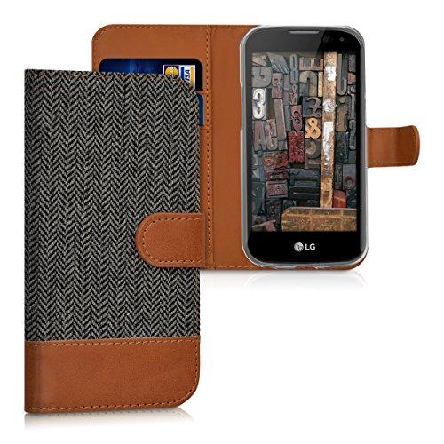 kwmobile LG K3 LTE (2016) Hülle - Kunstleder Wallet Case für LG K3 LTE (2016) mit Kartenfächern und Stand