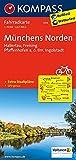 Münchens Norden, Hallertau, Freising, Pfaffenhofen a. d. Ilm, Ingolstadt: Fahrradkarte. GPS-genau. 1:70000 (KOMPASS-Fahrradkarten Deutschland, Band 3114) -
