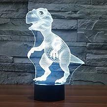 Illusione 3d lampada luce notturna jawell dinosauro 7Cambiare colore Touch USB tavolo regalo giocattoli decorazioni - Camera Pull String