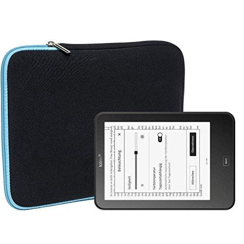 Slabo Tablet Tasche Schutzhülle für Tolino Vision 1/2 / 3/4 HD Hülle Etui Case Phablet aus Neopren – TÜRKIS/SCHWARZ