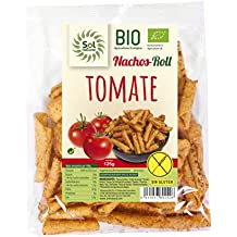 Sol Natural Nachos de Maíz Roll Tomate, sin Gluten - Paquete de 24 x 125 gr - Total: 3000 gr