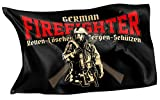 Rahmenlos® Bandera de diseño original: Alemania de bandera de German Fire Fighter para los Bomberos