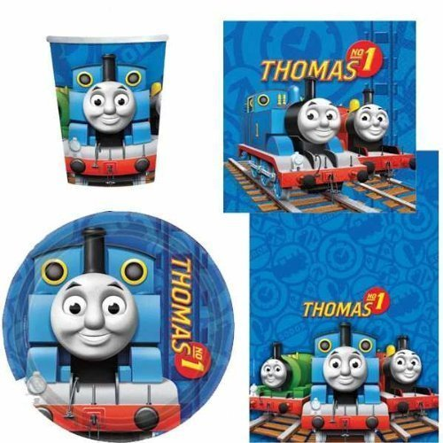 Thomas the Tank Engine Party Tableware Pack for 8 by Party Bags 2 Go (Thomas The Tank Engine Party)