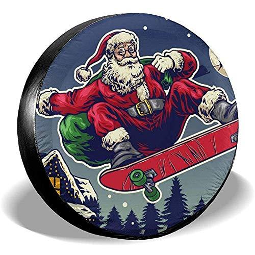 yyndw Wheel Tire Cover Santa Claus Ride Skateboard Zubehör Staubgeschützte Reserveradabdeckung wasserdichte Reifenabdeckung Radreifenabdeckung 76~79cm